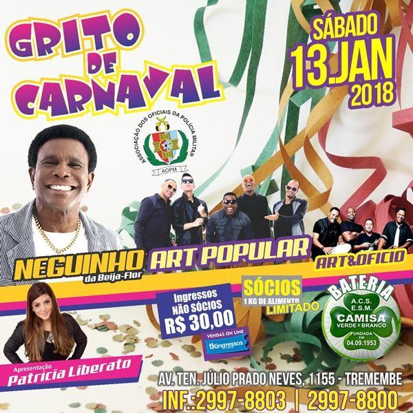 Grito de Carnaval - 13/01/18 - São Paulo - SP