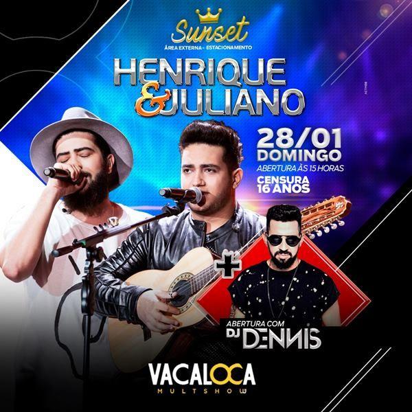 Henrique & Juliano - 28/01/18 - Mogi das Cruzes - SP
