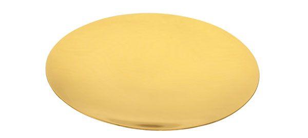 Patena para Cálice Dourada Total PA102