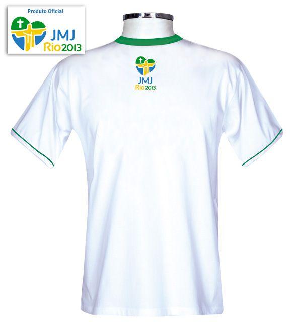 Camisa JMJ Rio 2013 Branco/Adulto