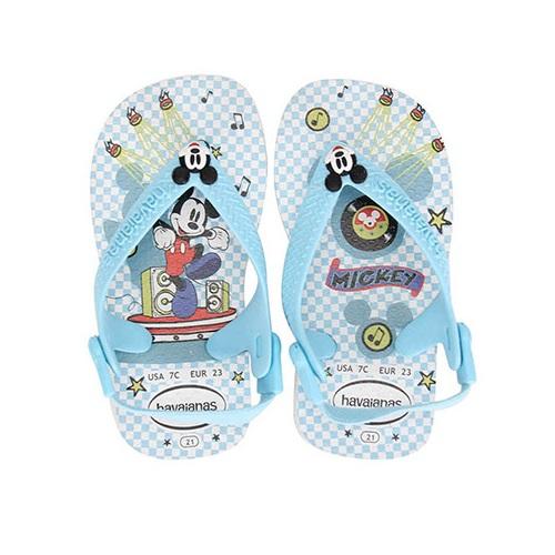 Havaianas TAM 19 Branco+azul - BABY Mickey e Minnie