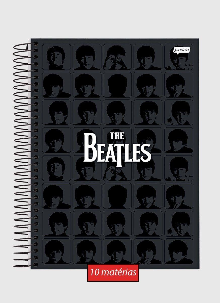 Caderno The Beatles Black 10 Matérias