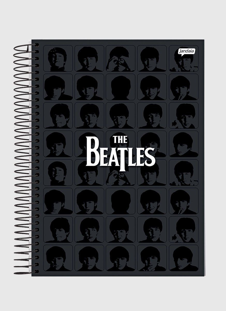 Caderno The Beatles Black 1 Matéria