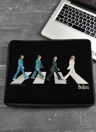 Capa Para Notebook The Beatles - Abbey Road Black