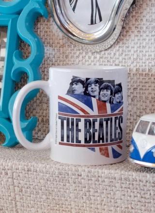Caneca The Beatles England Flag