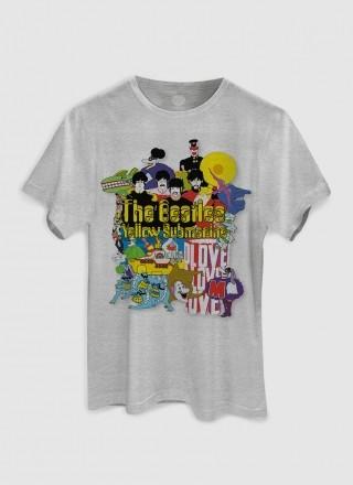 Camiseta Unissex The Beatles Yellow Submarine