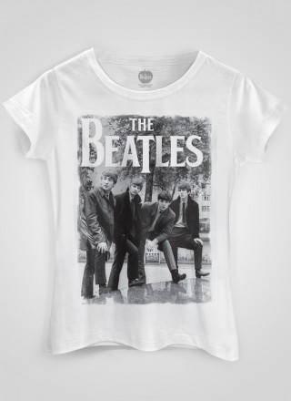 Camiseta Feminina The Beatles Hey What's That