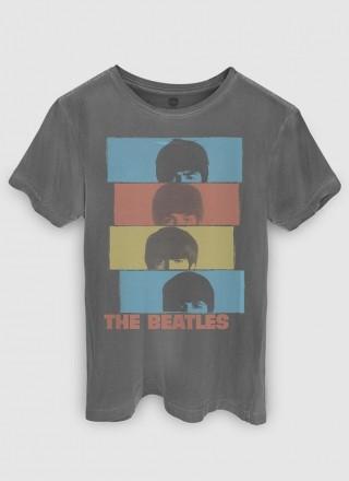 T-shirt Premium Masculina The Beatles Headshot
