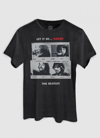 T-shirt Premium Masculina The Beatles Let It Be Naked