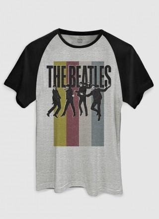 Camiseta Raglan Masculina The Beatles Jump