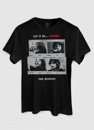 Camiseta Unissex The Beatles Let It Be Naked