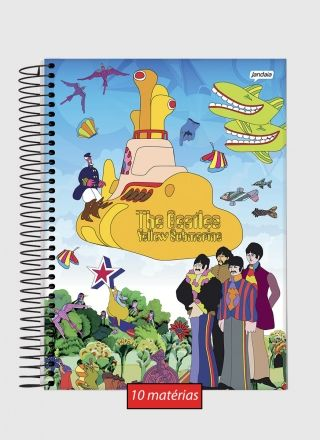 Caderno The Beatles Beatlesmarine 10 Matérias