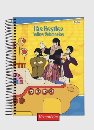 Caderno The Beatles Yellow 10 Matérias