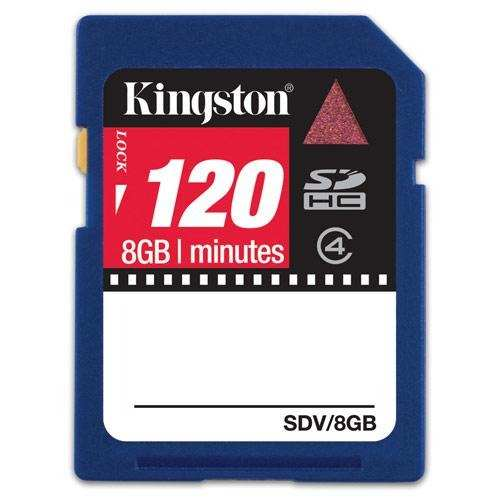 Cartao de Memoria SDHC 8GB Kingston Originl Video 120 MIN HD