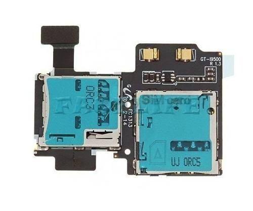 Placa Slot Sim Card Sd Samsung Galaxy S4 I9505 E I9500