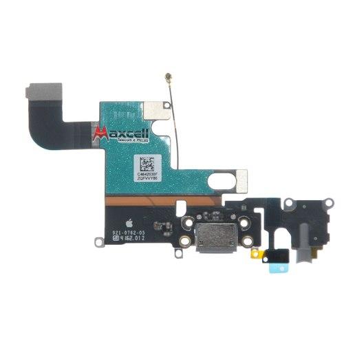 Cabo Flex Conector Carga Usb Fone Apple Iphone 6 6G 4.7 Preto