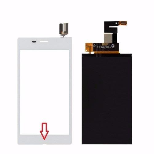 Kit Touch  Lcd Sony Xperia M2 Aqua D2403 D2406 Branco - 1 Linha