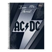 Caderno AC/DC Rock The House 1 Matéria