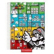 Caderno Super Mario Fun 10 Matérias
