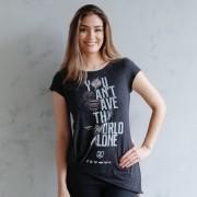 Camiseta Feminina Justice League Icons
