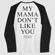 Camiseta Manga Longa Masculina Justin Bieber My Mama