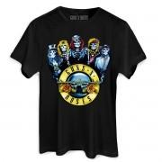 Camiseta Masculina Guns N´ Roses Skull Band