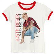 Camiseta Ringer Feminina Justin Bieber Look