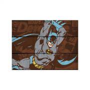 Placa de Madeira Batman Attacking
