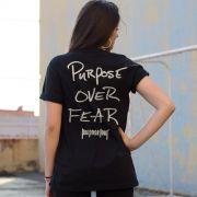 T-shirt Feminina Justin Bieber Purpose Over Fear