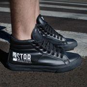 Tênis Cano Alto The Flash Serie STAR Laboratories