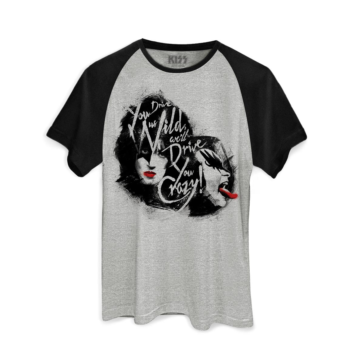 Camiseta Raglan Masculina Kiss Dressed To Kill