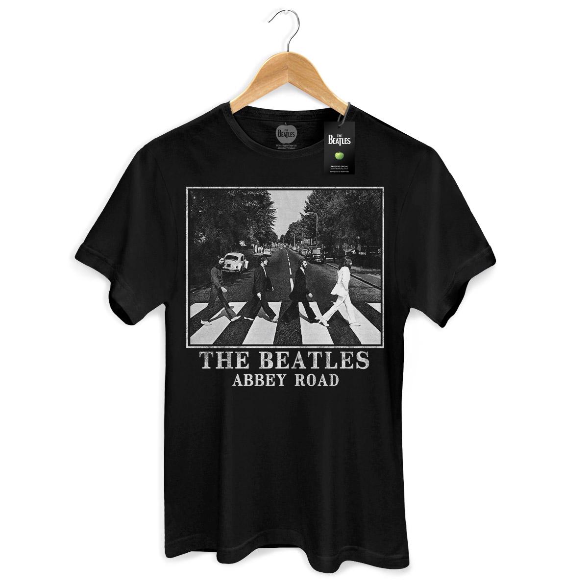 Camiseta Unissex The Beatles Abbey Road Black