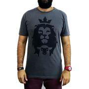 Camiseta Cordeiro e Leão -  Chumbo - Masculina