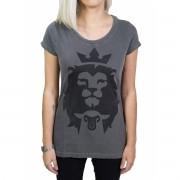 Camiseta Cordeiro e Leão - Chumbo - Feminina