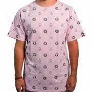 Camiseta Pattern Rosa Masculina - #REINODEPONTACABEÇA