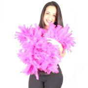 Estola Boá Grossa de Plumas - Pink