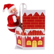 Enfeite Animado Papai Noel na Chaminé