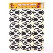 Patinhas de Coelho Adesivas para Páscoa - 18 Unidades