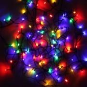 Pisca Pisca LED Colorido com Fio Verde - 110V