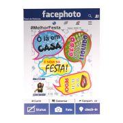 Kit Plaquinhas Divertidas com Painel Facephoto