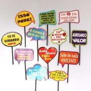 Plaquinhas Divertidas Mix Frases - 12 Unidades