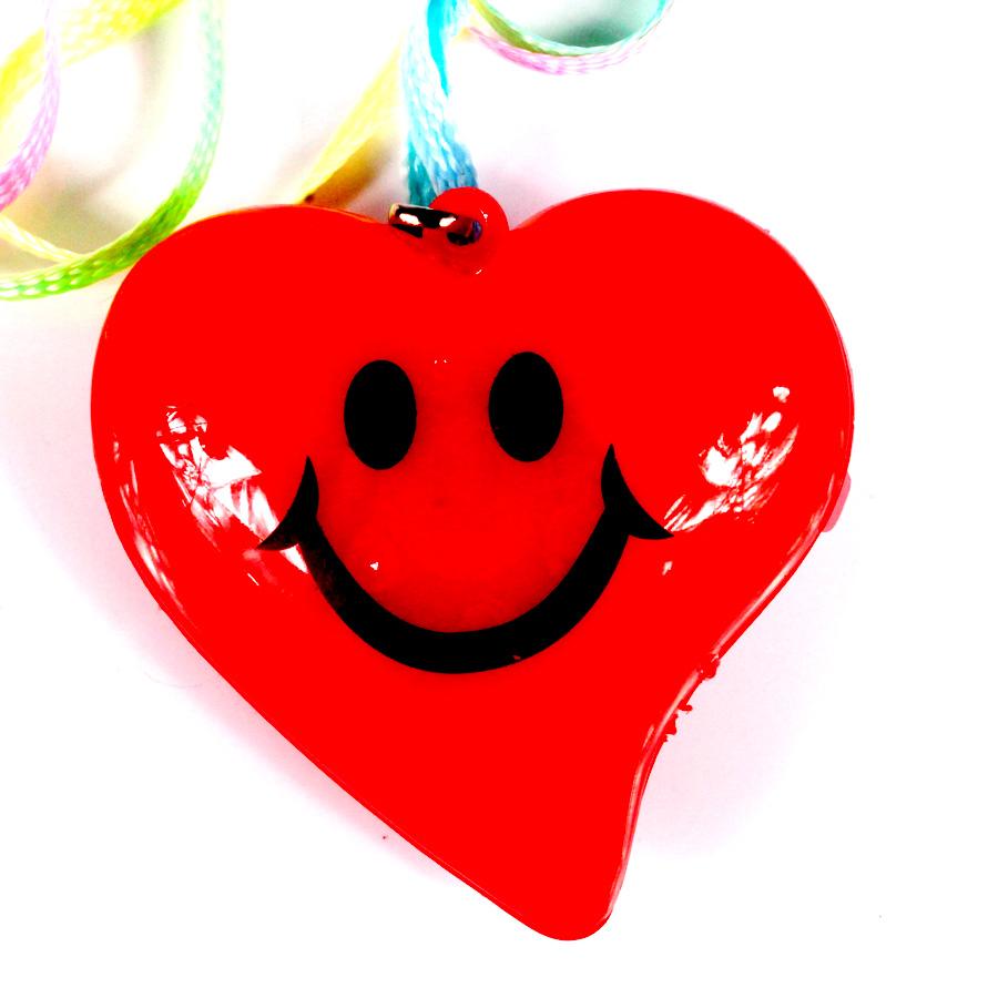 Colar Pisca Coração Vermelho E Rosa