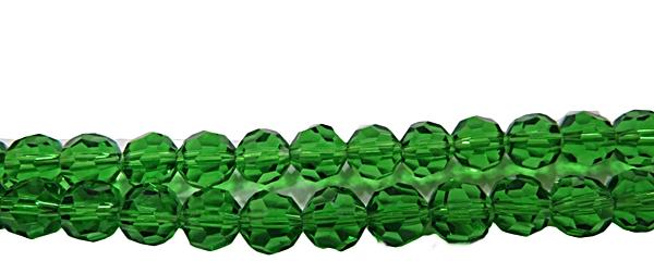 Fio de CristalBolinha N08 mm-Verde Transp.- CCB002