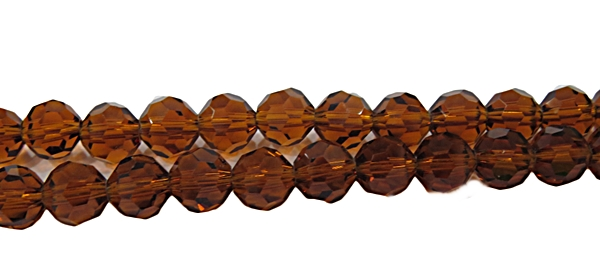 Fio de Cristal Bolinha Marrom Transparente -CCB005