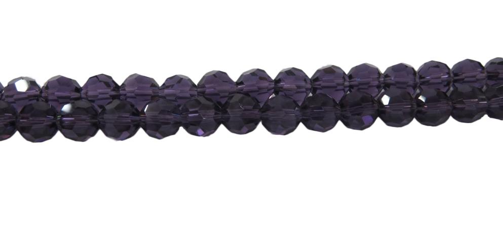 Fio de Cristal Bolinha Roxo Transp-N08 mm-CCB012