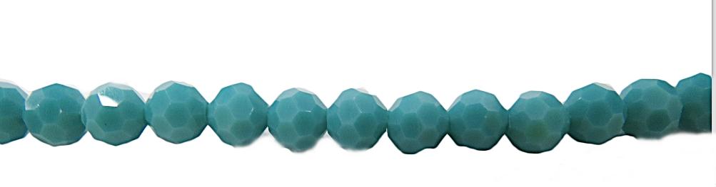 Fio Cristal Chines Bolinha N08 Turquesa-CBB012