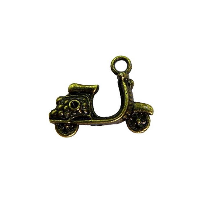 Pingente Motocicleta ouro velho (10 unidades)- PTO044