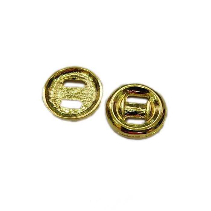 Fecho Botao Dourado G (10 unid.)- FBTD001