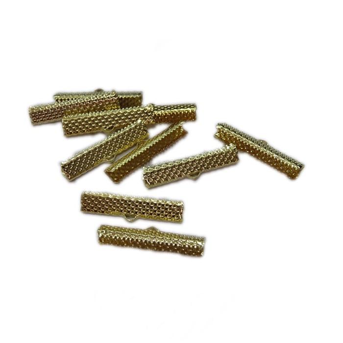 Terminal de garrinha dourado 3cm (10 unid.)-TGD005