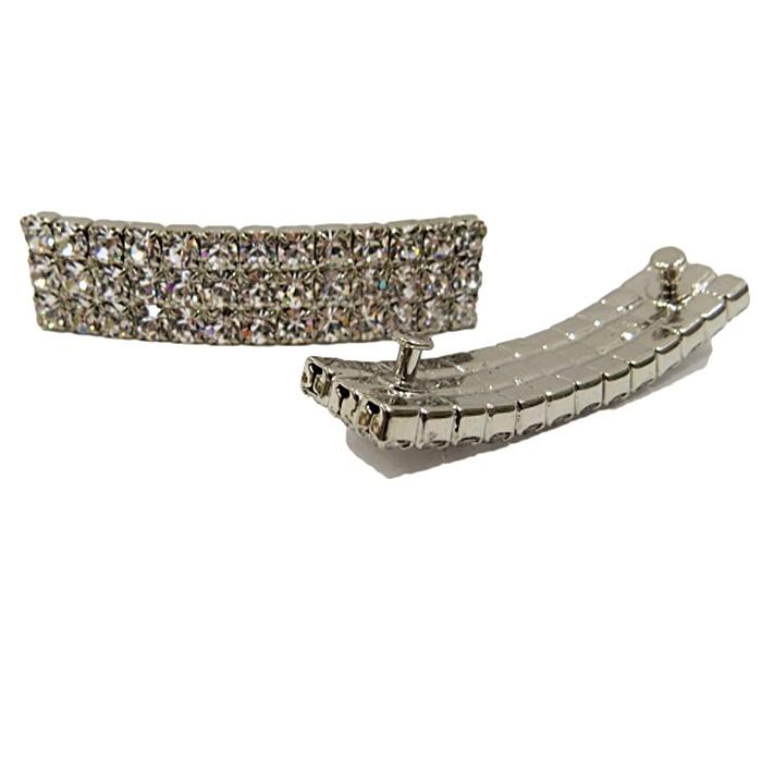 Piercing Retângulo níquel (Par)- PIN025